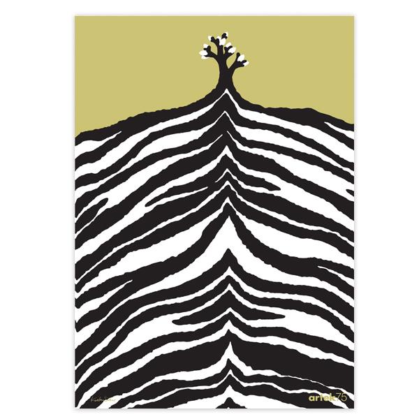 Artek Zebra Print 75 Years Poster