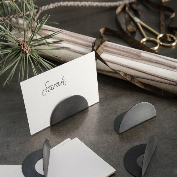 Ferm Living Card Holders Black Brass Lifestyle3 contemporary designer homeware