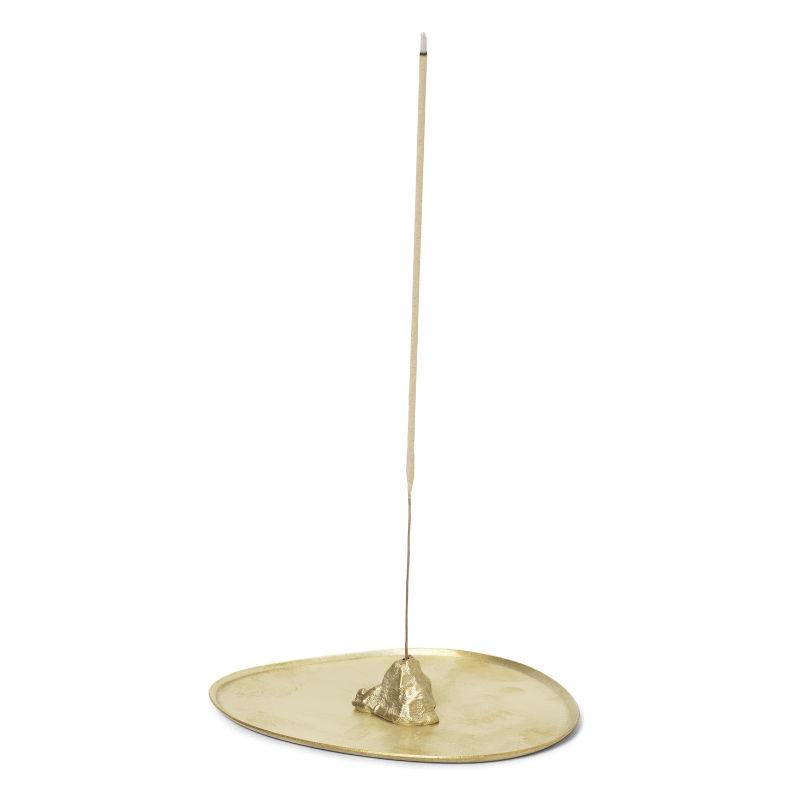 Ferm Living Stone Incense Burner Brass Contemporary Designer Homeware
