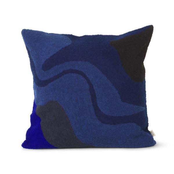 Ferm Living Vista Cushion Dark Blue Contemporary Designer Homeware