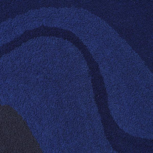Ferm Living Vista Cushion Dark Blue Detail contemporary designer homeware