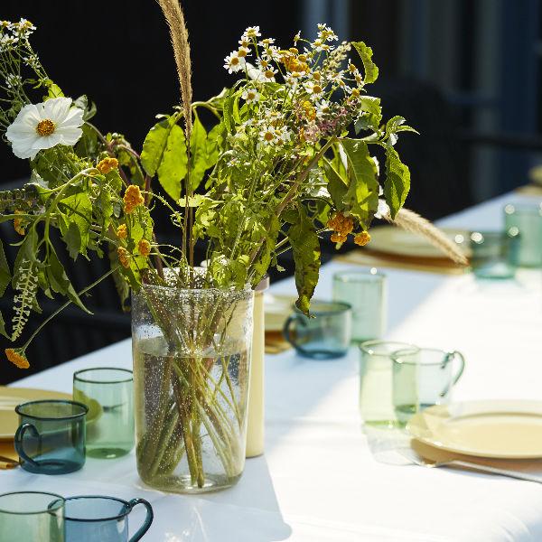 Hay Bubble Vase Medium Clear Lifestyle2 Contemporary Designer Homeware