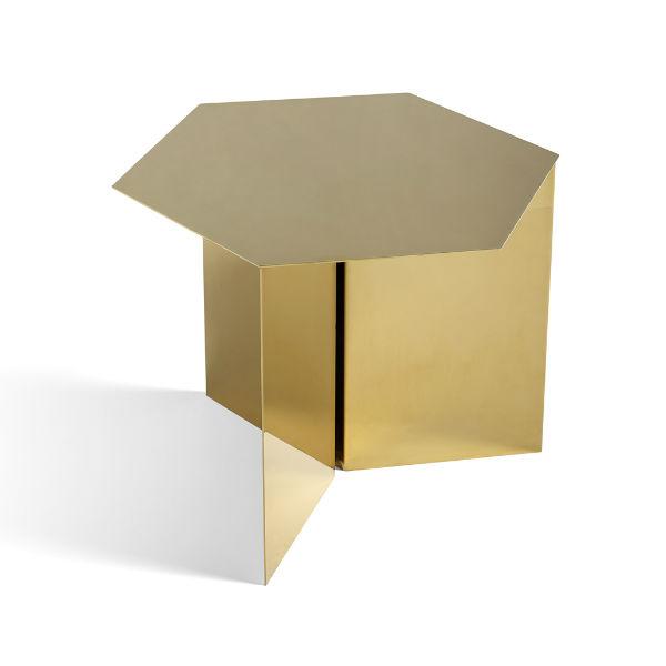 Hay Slit Table Hexagon Brass contemporary designer furniture