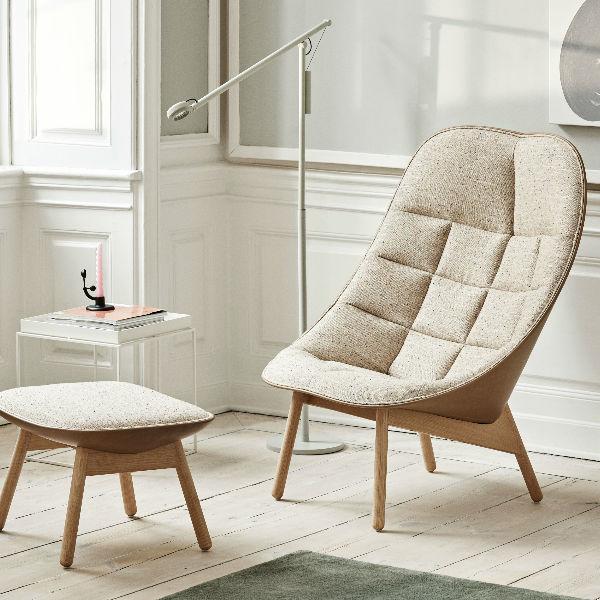 Hay Uchiwa Lounge Chair in Remix 123 lifestyle2 contemporary designer furniture