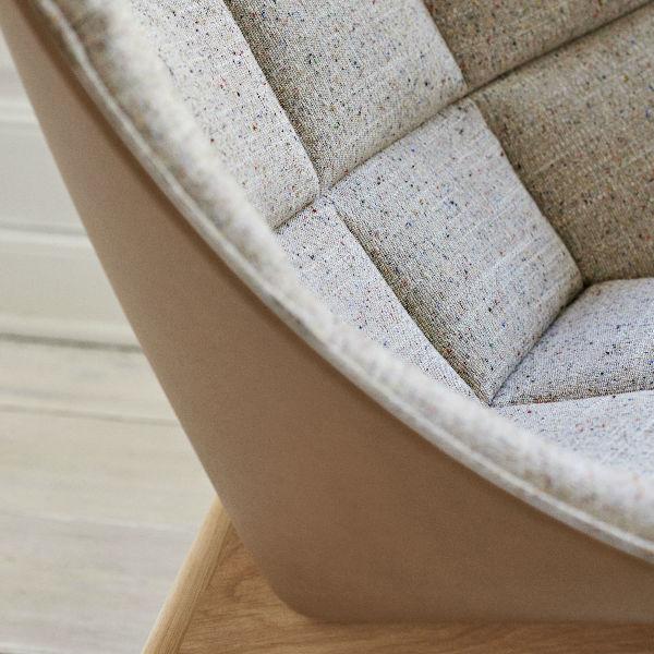 Hay Uchiwa Lounge Chair in Remix 123 lifestyle3 contemporary designer furniture