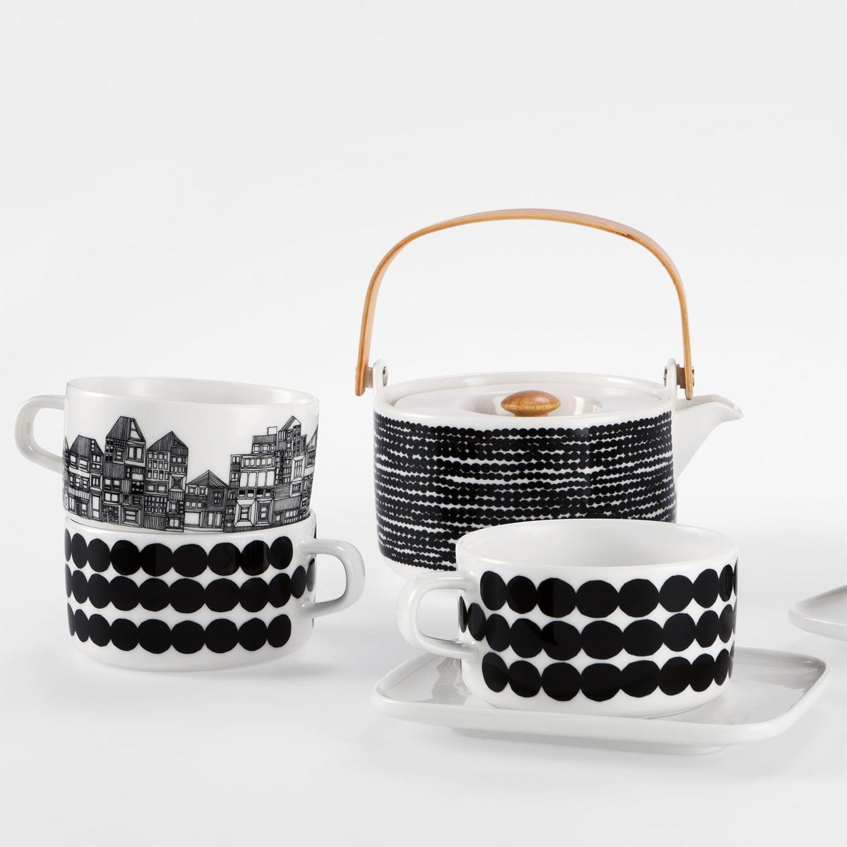 Marimekko Oiva:Siirtolapuutarha teapot lifestyle2 contemporary designer homeware
