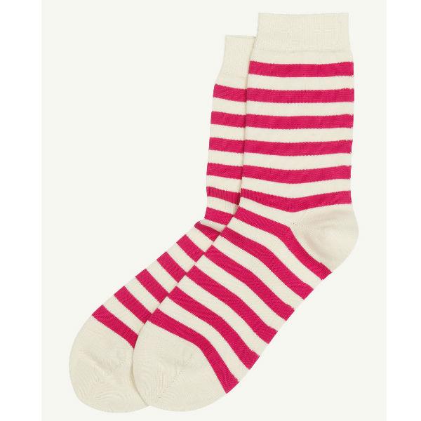 Marimekko Raitsu Socks dark pink and off white Contemporary Designer Homeware