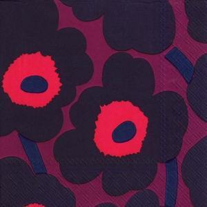 Marimekko Dark Red Napkins contemporary designer homeware