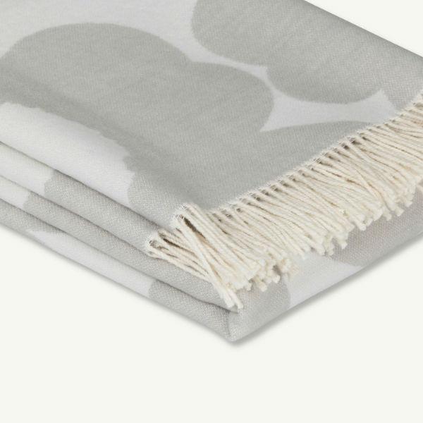 Marimekko unikko blanket grey 3 contemporary designer homeware