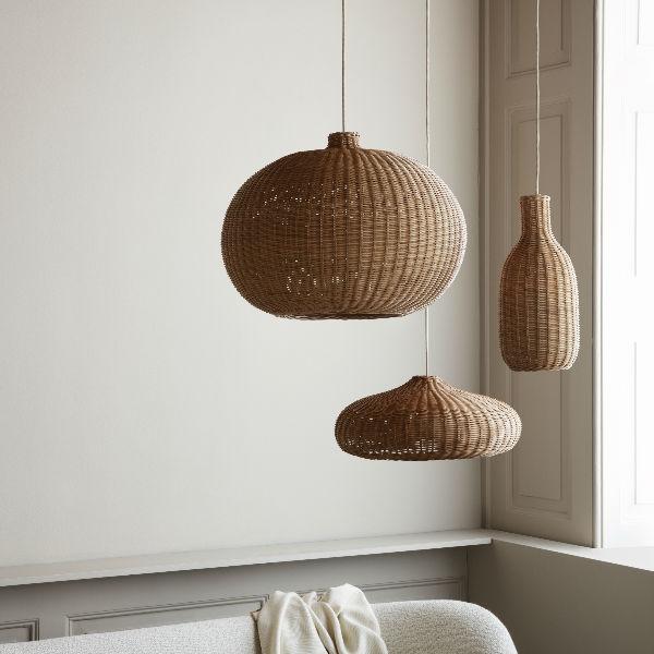 Ferm Living Braided Belly Lamp Shade Lifestyle2 contemporary designer homeware