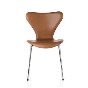 Fritz Hansen Series 7 Leather Brown contemporary designer furniture