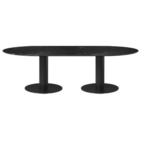 Gubi Table 20 elliptical 100 x 200 black marble contemporary designer furniture