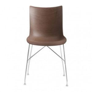 Kartell P/Wood chair dark wood chrome contemporary designer furniture