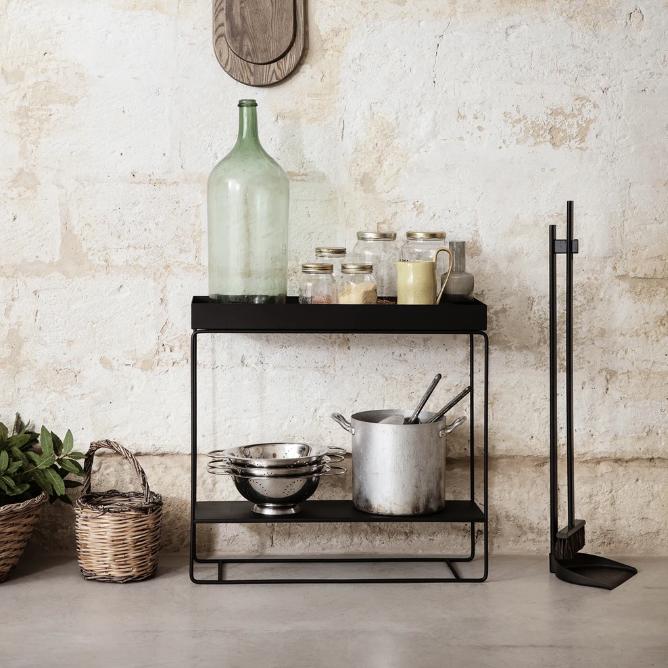Plant box black two tier lifestyle contemporary designer plant pot
