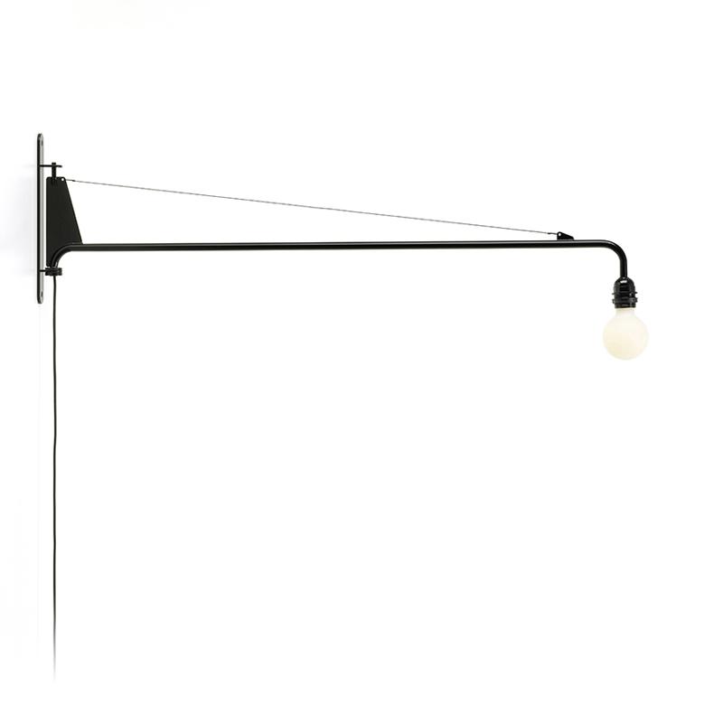 vitra petite potence deep black light contemporary designer lighting