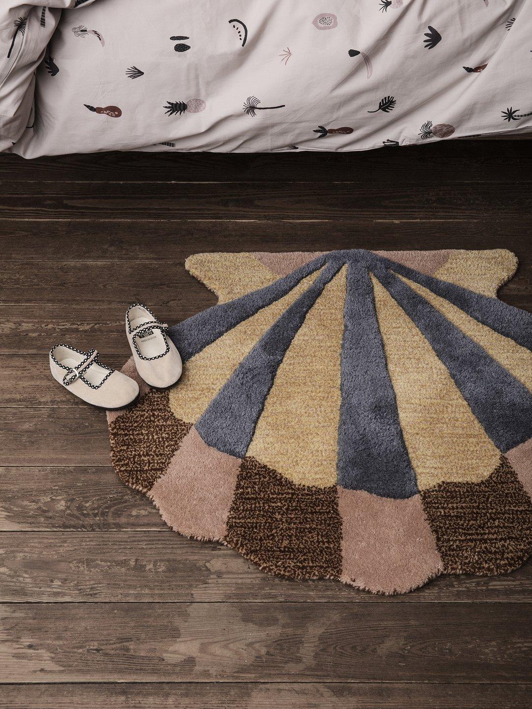 Ferm Living tufted floor rug shell