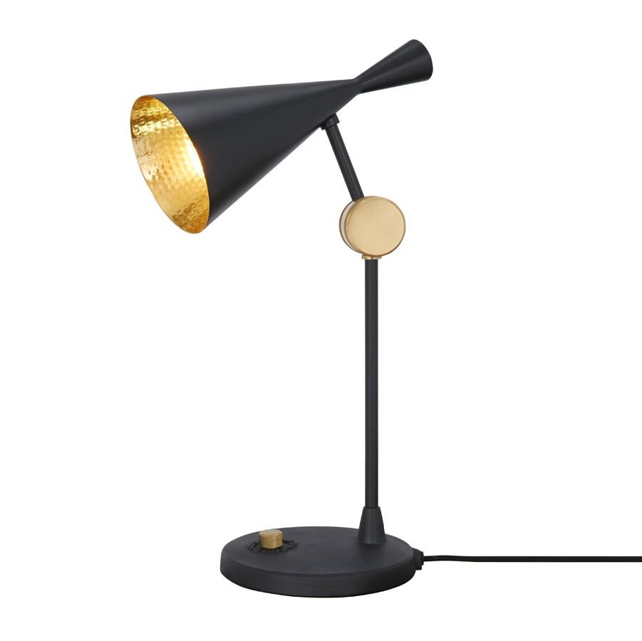 Tom Dixon Beat-Table-Lamp-Black-ON