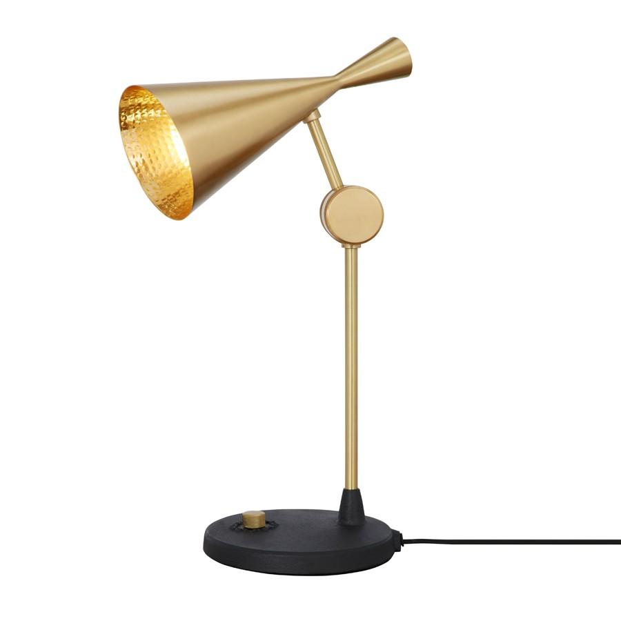 Tom Dixon Beat-Table-Lamp-Brass-ON