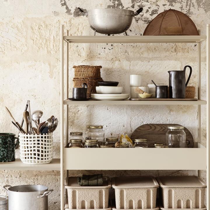 Ferm living ceramic basket lifestyle