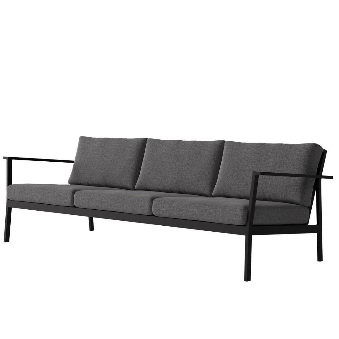 Case Eos 3 Seat Black Case Furniture Contemporary designer