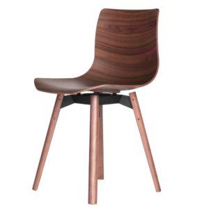 Case Loku chair walnut composite Furniture Contemporary Designer