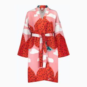 Mansikkavuoret bathrobe Marimekko contemporary designer bathware