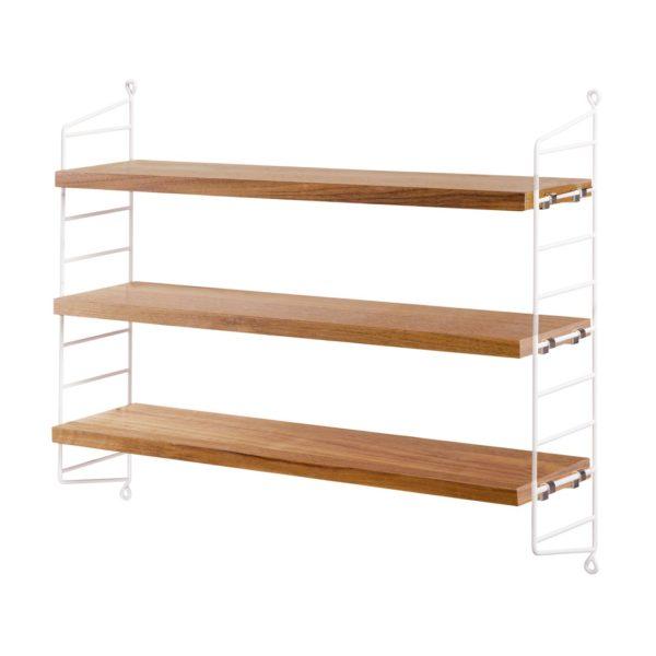 Strig pocket shelving oak contemporary designer furniture