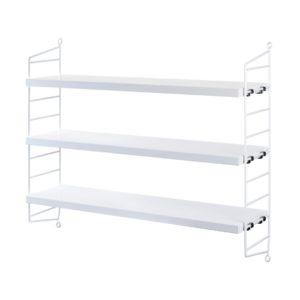 String Pocket shelving white contemporary designer furniture