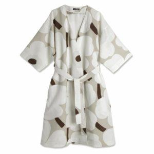 Marimekko Unikko Cotton Linen Bathrobe
